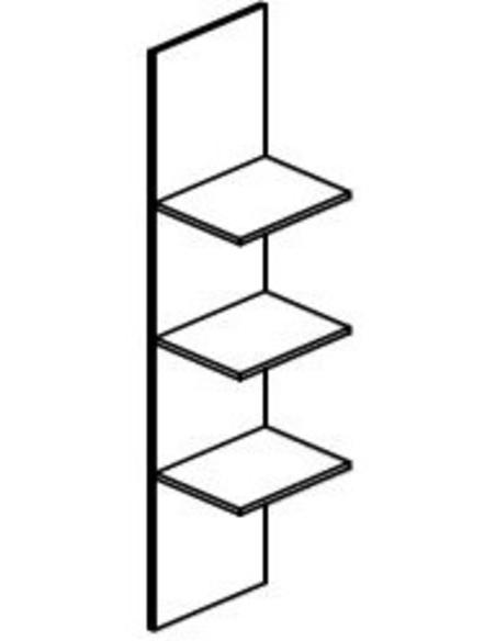 Wastoren WSCI162 Verticale verdeling voor opbergen strijkplank & stofzuiger